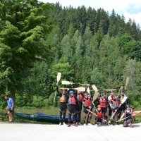 Teambuilding rafting