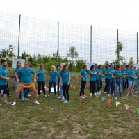 Teambuilding olimpiada hula-hoop