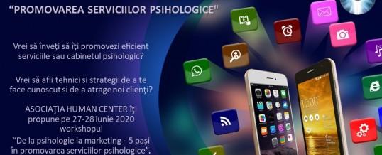 Workshop: Promovarea serviciilor psihologice